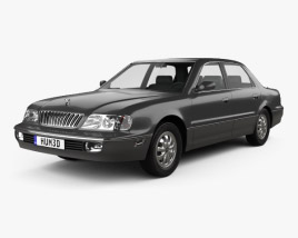 3D model of Hyundai Grandeur 1992
