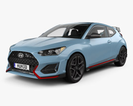 3D model of Hyundai Veloster N with HQ interior 2018