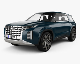 3D model of Hyundai HDC-2 Grandmaster SUV 2018