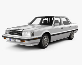 3D model of Hyundai Grandeur with HQ interior 1986