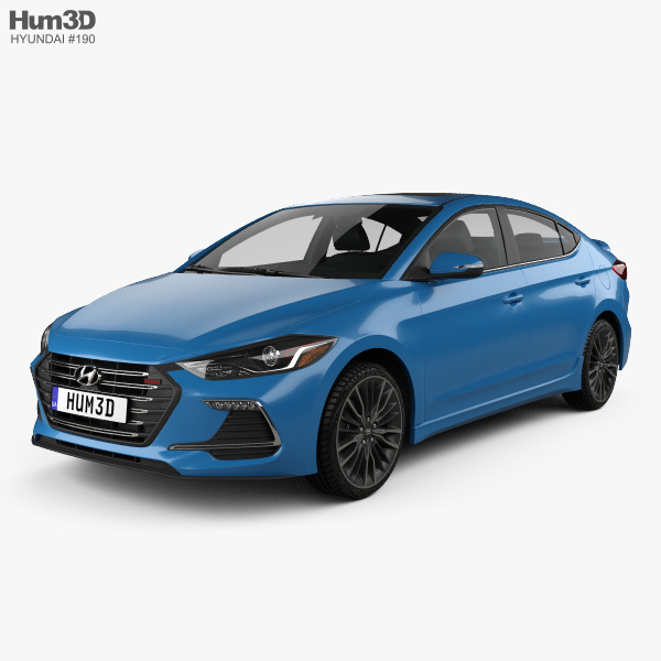 3D model of Hyundai Avante Sport with HQ interior 2017