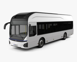 3D model of Hyundai ELEC CITY Bus 2017