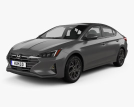 3D model of Hyundai Elantra Limited 2019
