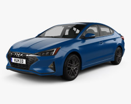 3D model of Hyundai Elantra Sport Premium 2019