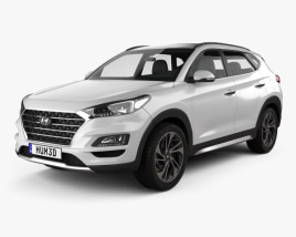 3D model of Hyundai Tucson 2018