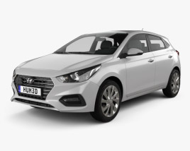 3D model of Hyundai Accent hatchback 2017