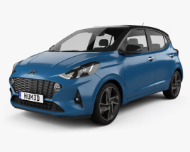 3D model of Hyundai i10 2019