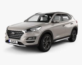 3D model of Hyundai Tucson with HQ interior 2018
