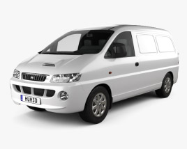 3D model of Hyundai H-1 Panel Van 1997