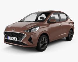 3D model of Hyundai Aura 2020