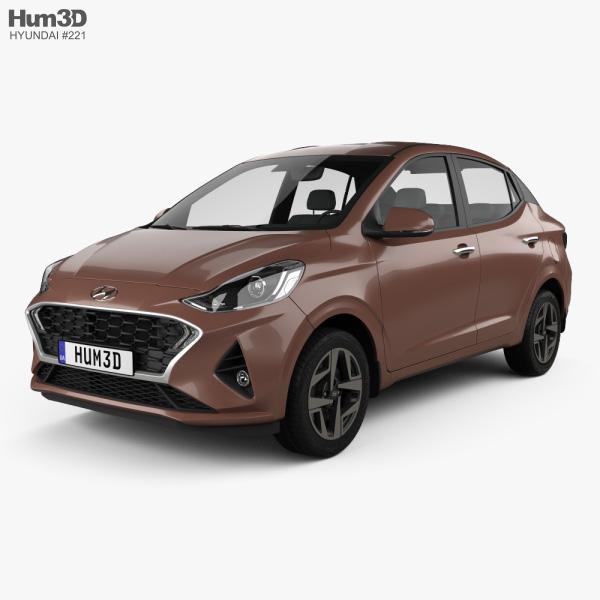 Hyundai Aura 2020 3D model