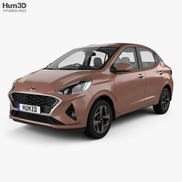 Hyundai Aura with HQ interior 2020 3D model