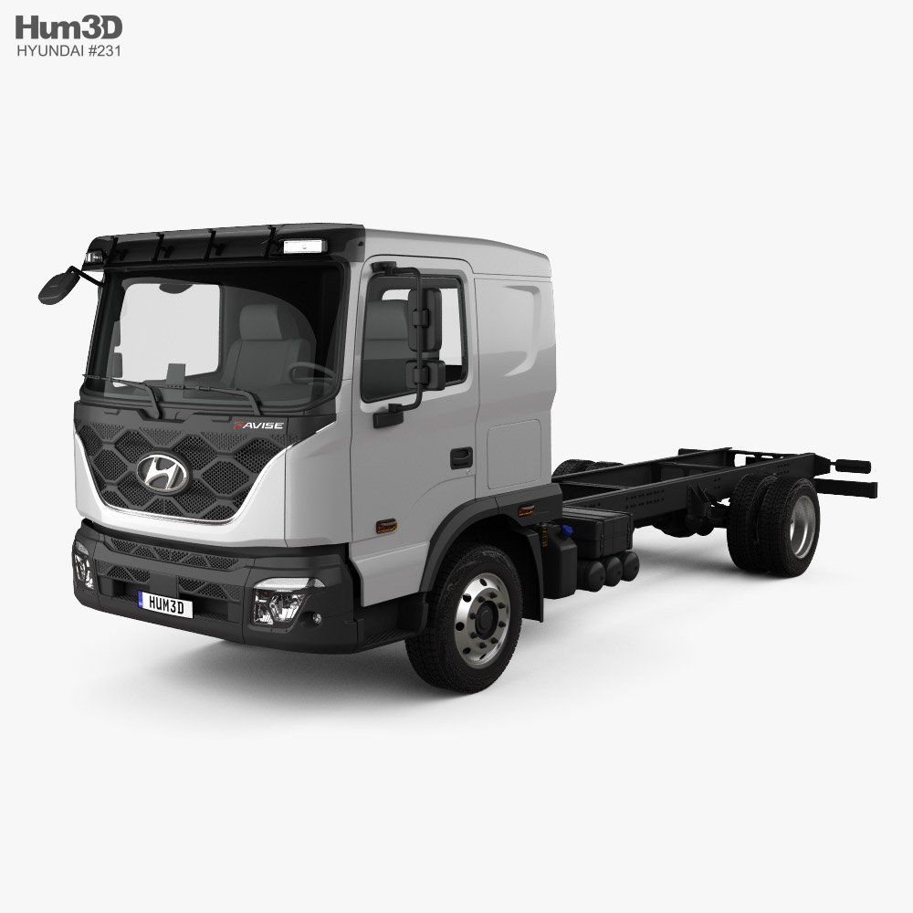3D model of Hyundai Pavise Chassis Truck 2019
