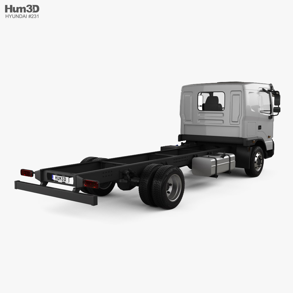 Hyundai Pavise Chassis Truck 2019 3d model back view