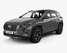 3D model of Hyundai Tucson 2021