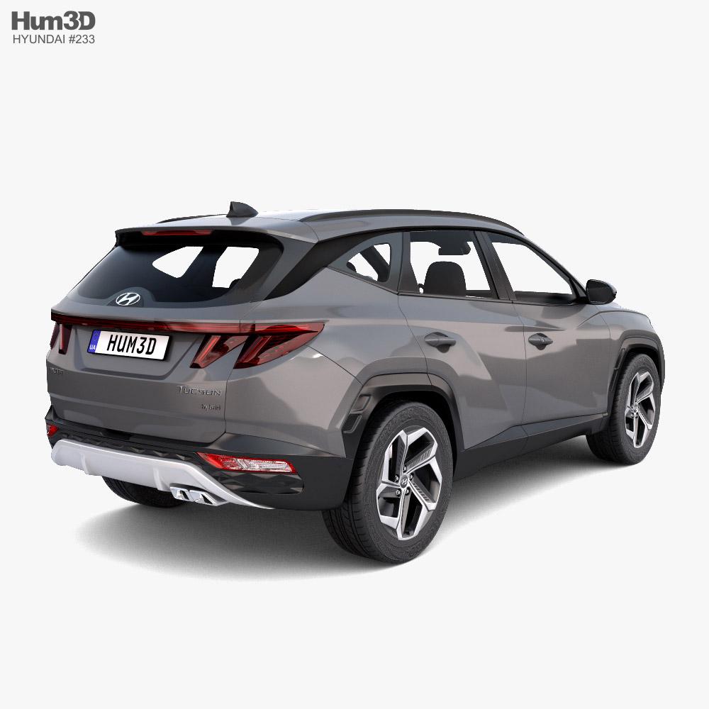 Hyundai Tucson 2021 3d model back view