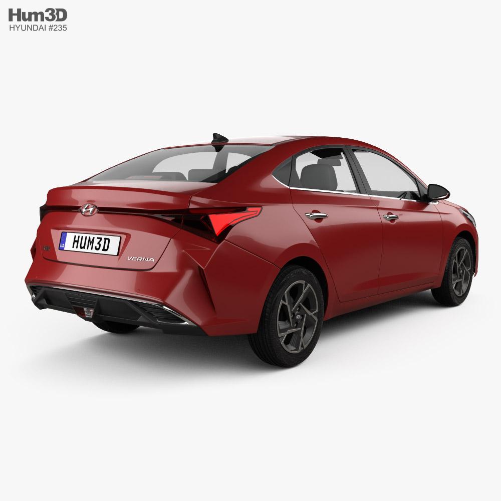 Hyundai Verna 2020 3d model back view