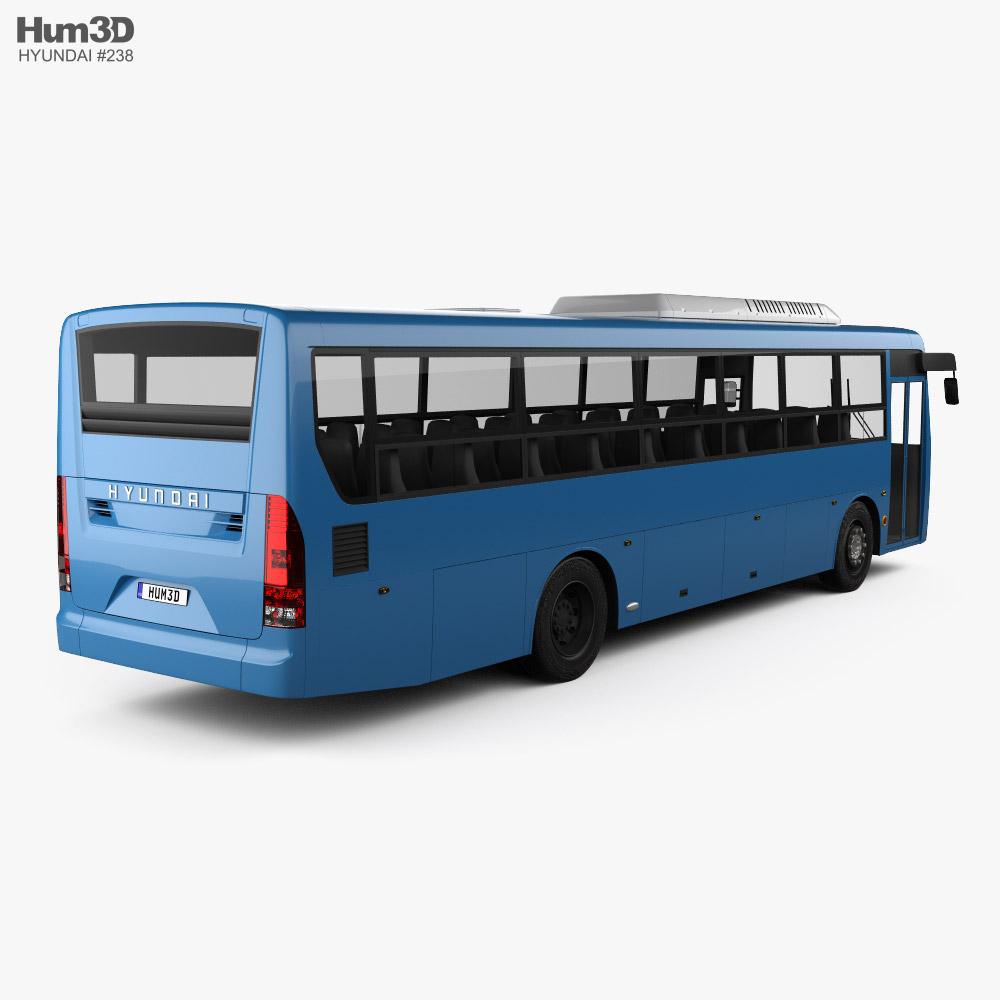 Hyundai Super Aero City Bus 2019 3d model back view
