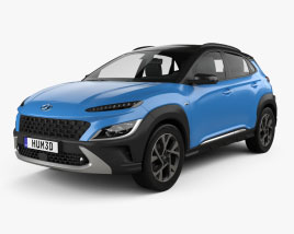 3D model of Hyundai Kona 2020