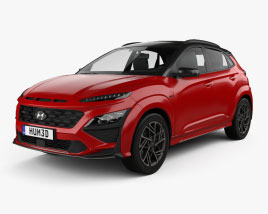 3D model of Hyundai Kona N-Line 2020