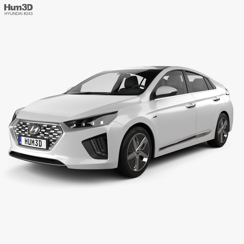 Hyundai Ioniq hybrid 2019 3D model