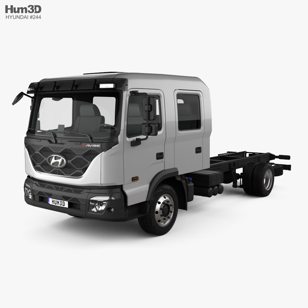 Hyundai Pavise Double Cab Chassis Truck 2019 3D model