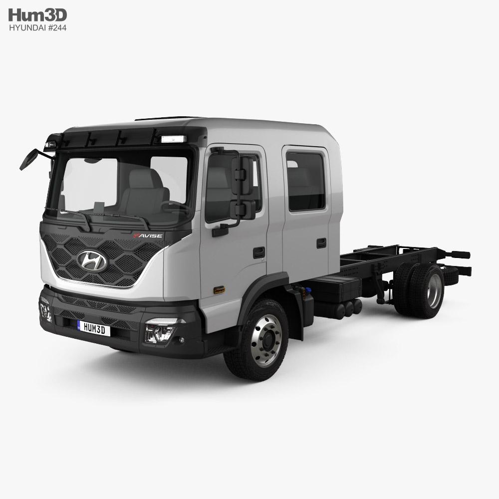 Hyundai Pavise ダブルキャブ シャシートラック 2019 3Dモデル