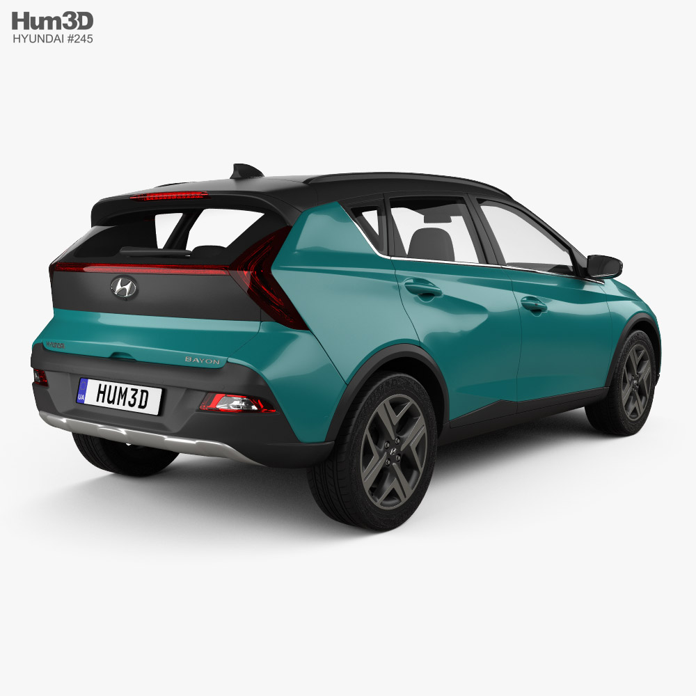 Hyundai Bayon 2022 3d model back view