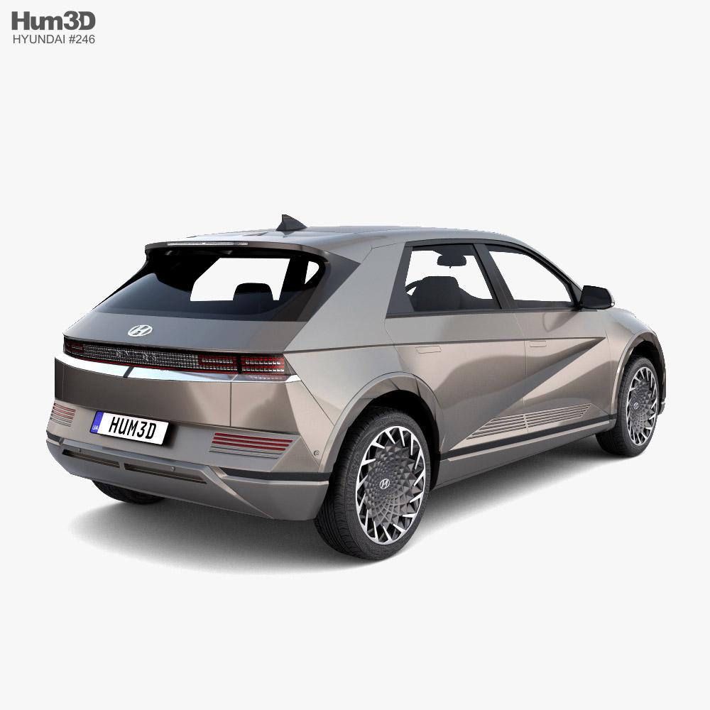 Hyundai Ioniq 5 2022 3D模型 后视图