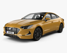 Hyundai Sonata with HQ interior and engine 2020 3D model