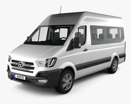 Hyundai H350 Passenger Van with HQ interior 2015 3D model