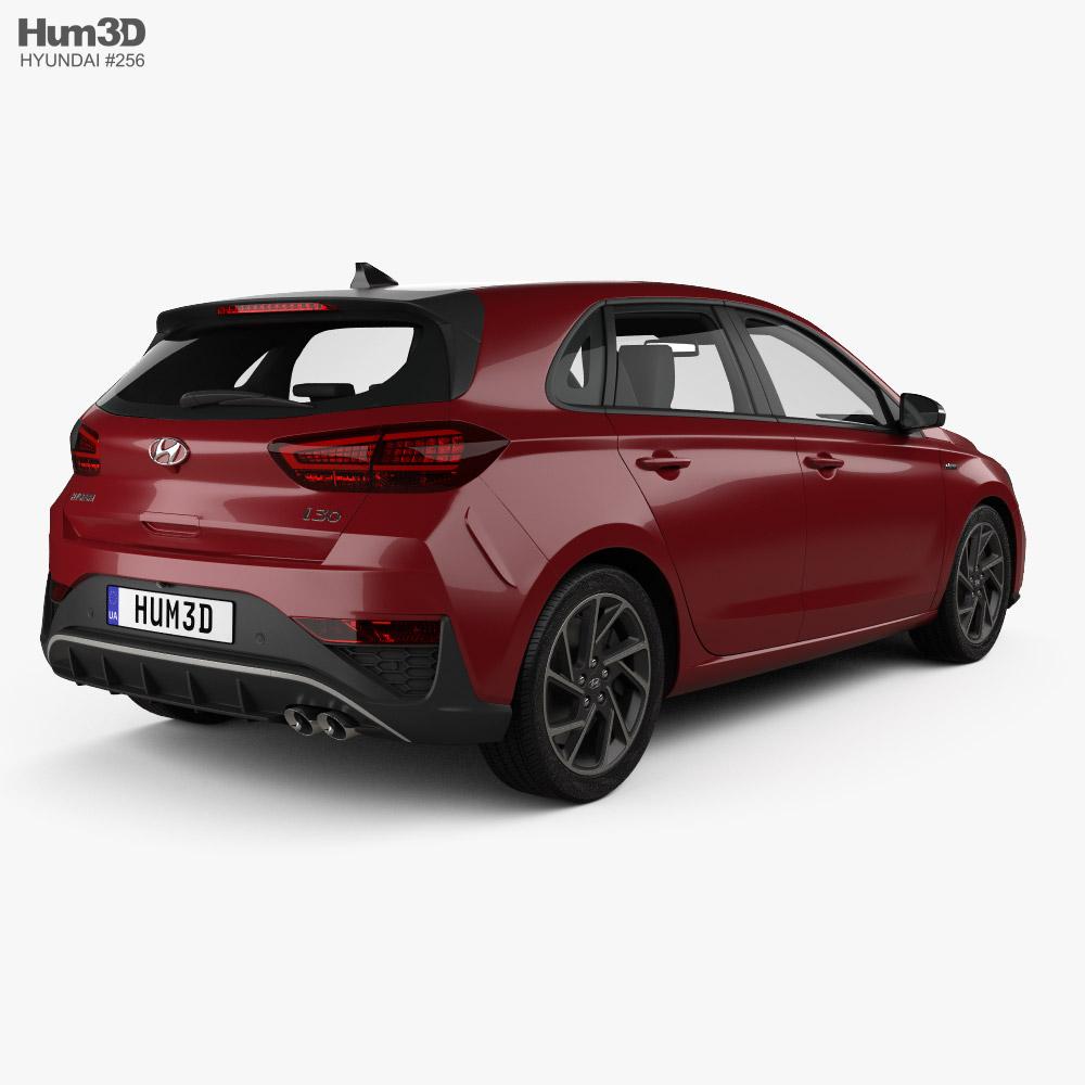 Hyundai i30 N-Line hatchback 2020 3d model back view