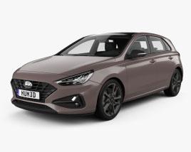 Hyundai i30 hybrid hatchback 2020 3D model