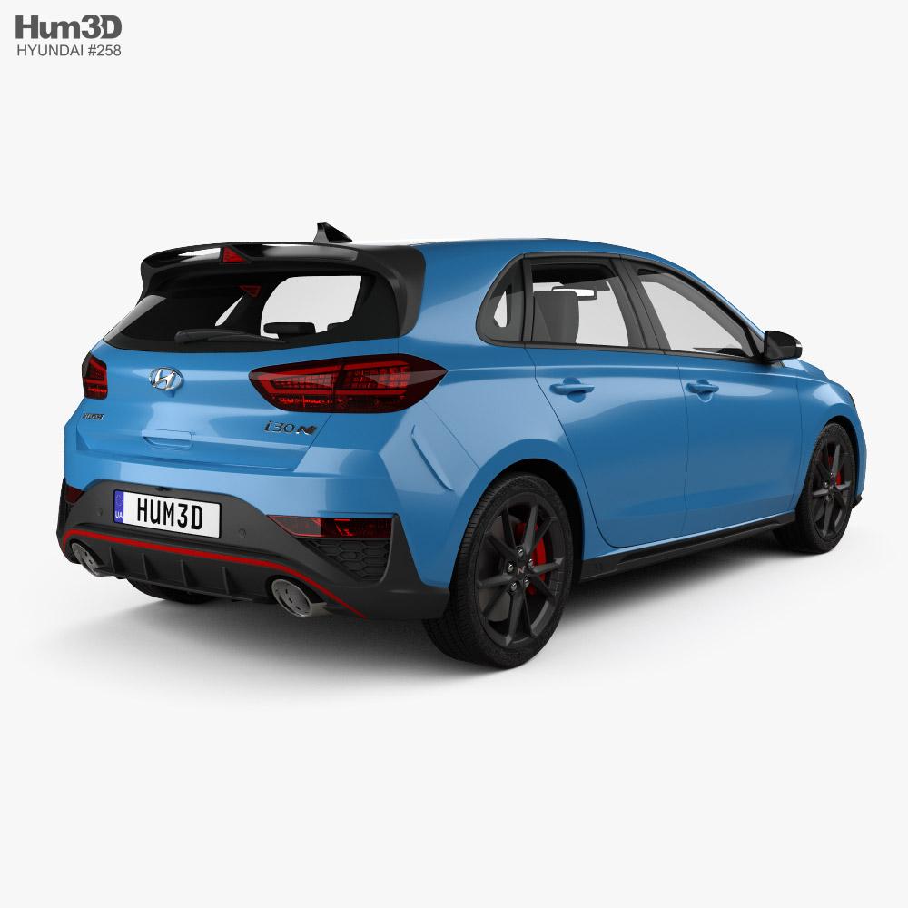 Hyundai i30 N hatchback 2020 3d model back view