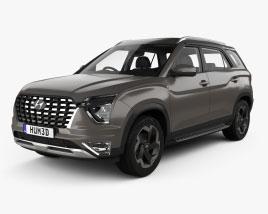 Hyundai Alcazar mit Innenraum 2021 3D-Modell
