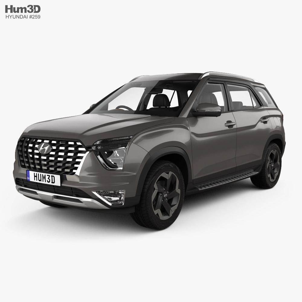 Hyundai Alcazar with HQ interior 2021 3D model