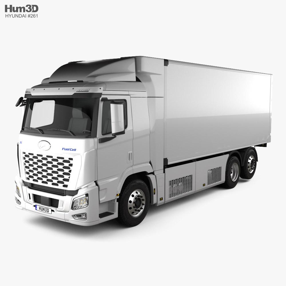 Hyundai Xcient FCEV Box Truck 2020 3D model