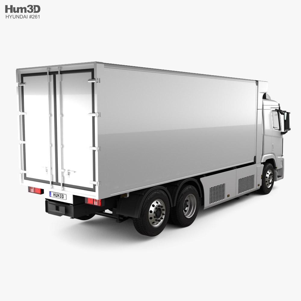 Hyundai Xcient FCEV Box Truck 2020 3d model back view