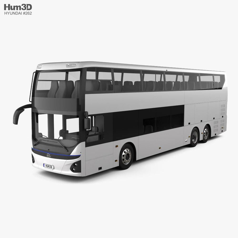 Hyundai Elec City Autocarro de dois andares 2021 Modelo 3d