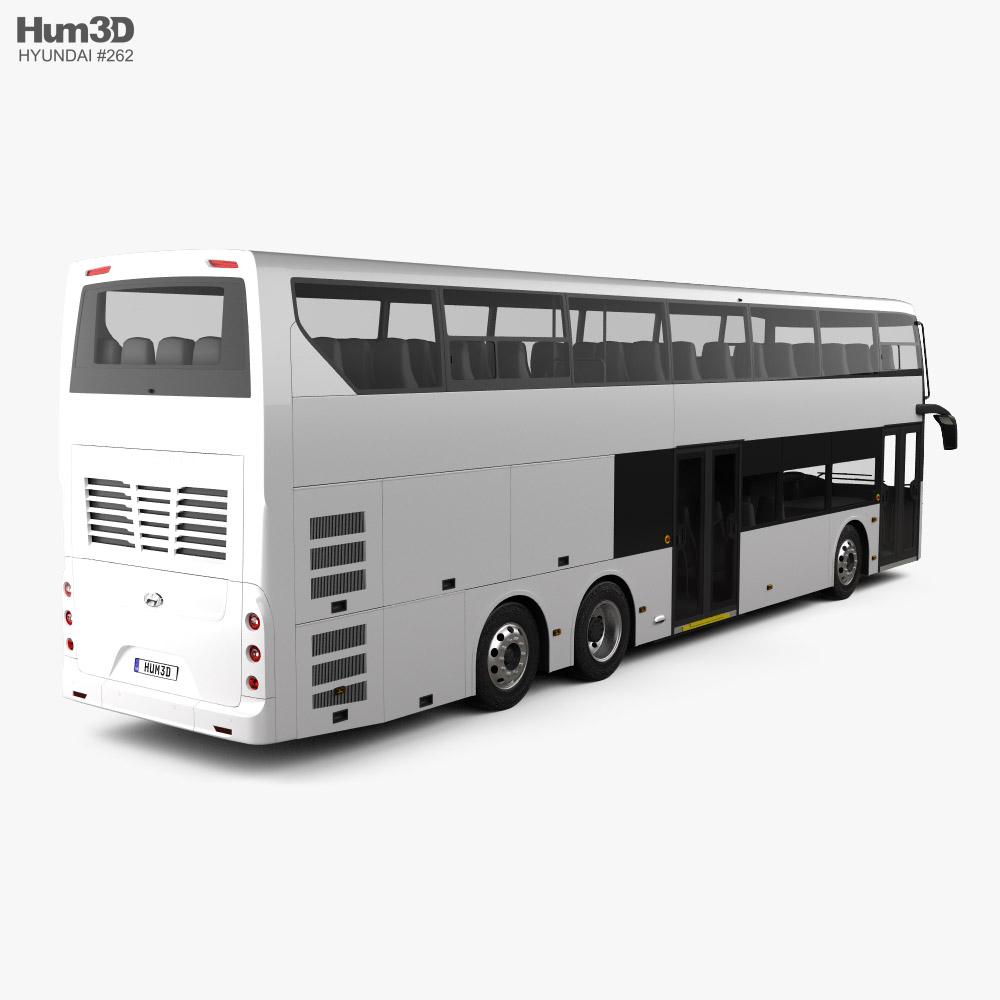 Hyundai Elec City Double-Decker Bus 2021 3d model back view
