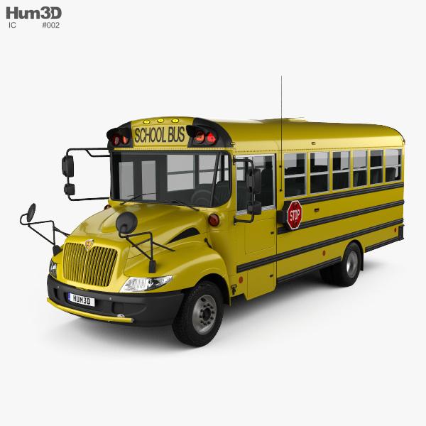 3D model of IC BE School Bus 2012