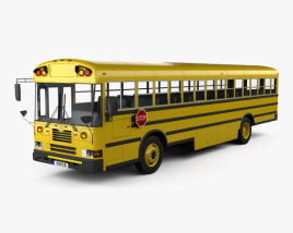 3D model of IC FE School Bus 2006