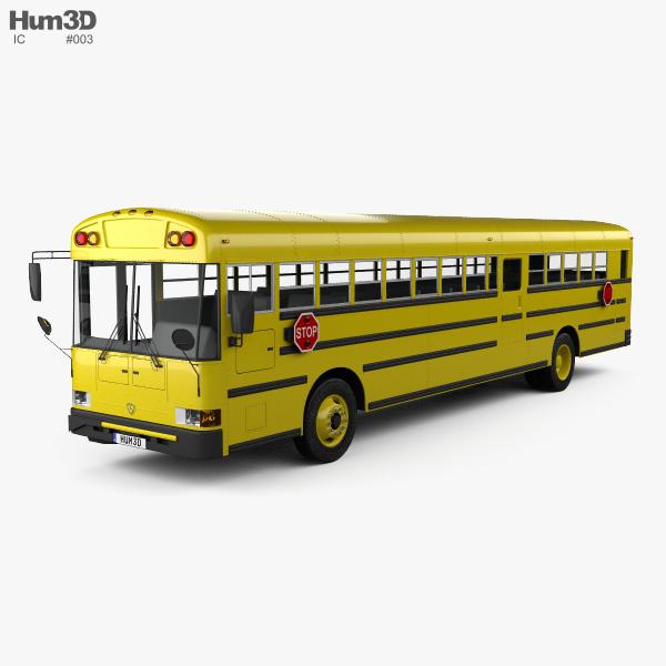 3D model of IC RE School Bus 2008