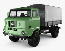 3D model of IFA W50 L Flatbed Truck 1980