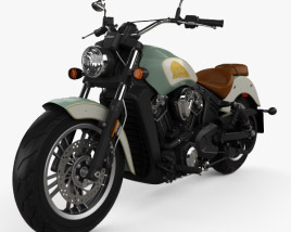 3D model of Indian Scout 2018