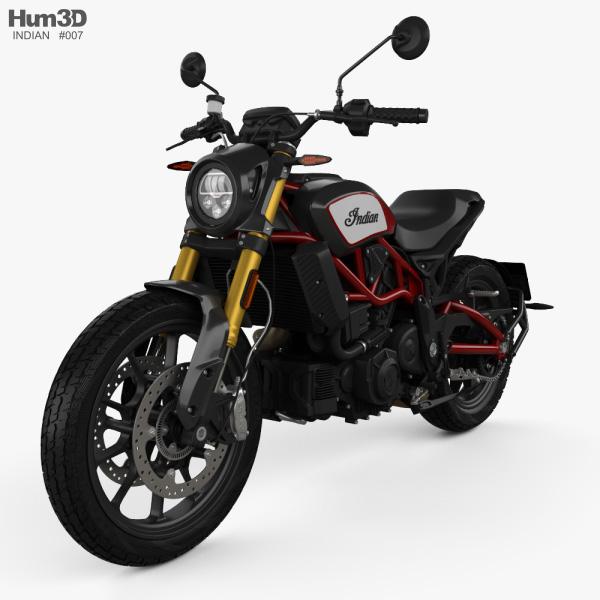 3D model of Indian FTR 1200 S 2020
