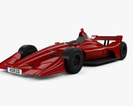 3D model of Indycar Short Oval 2018