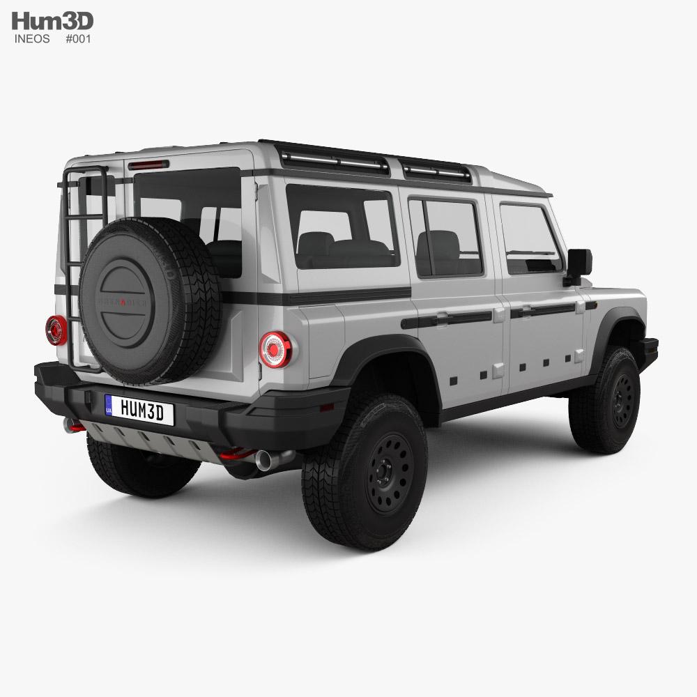 Ineos Grenadier 2021 3d model back view