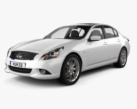 3D model of Infiniti G37 Sedan 2011
