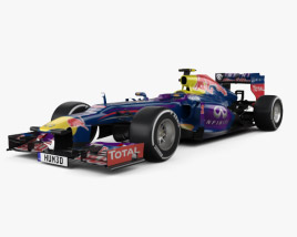 3D model of Infiniti RB9 Red Bull Racing F1 2013